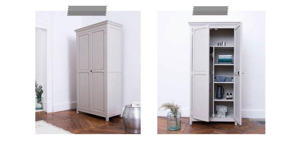 armoire parisienne gris clair