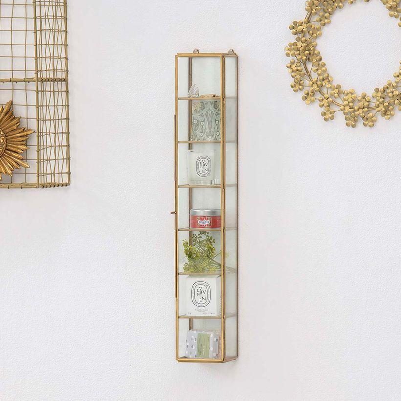 étagère murale vitrine colonne