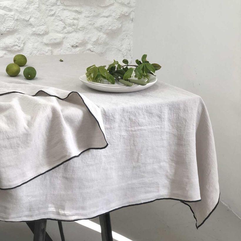 nappe ou rideau en lin sable