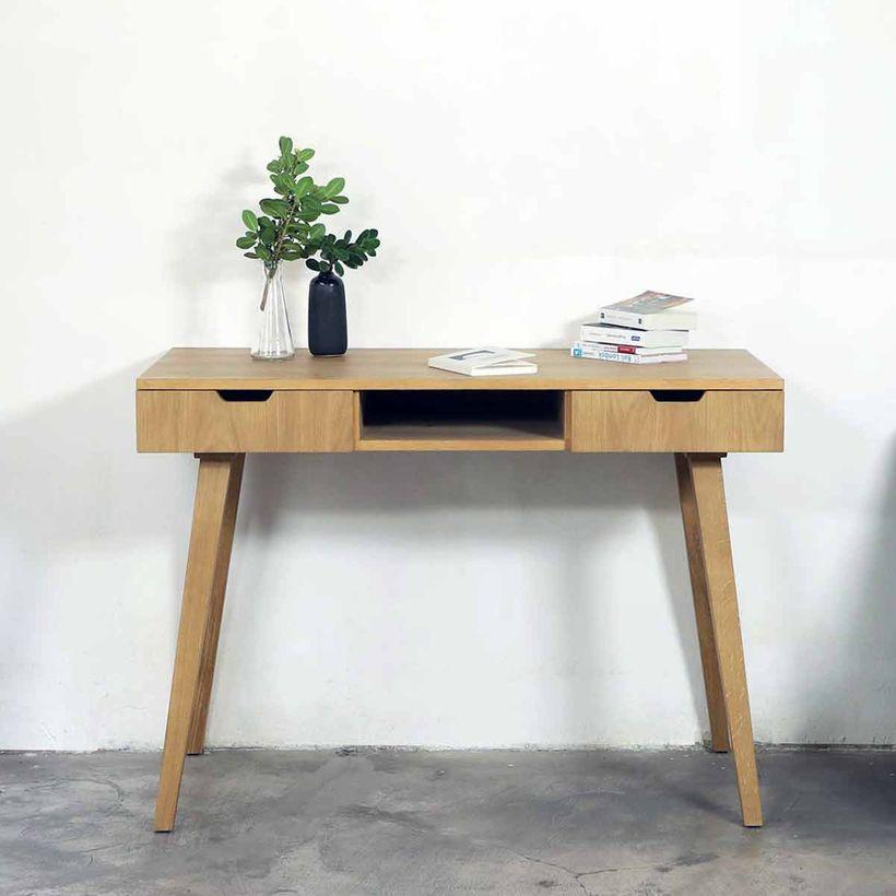 bureau en planqué chêne