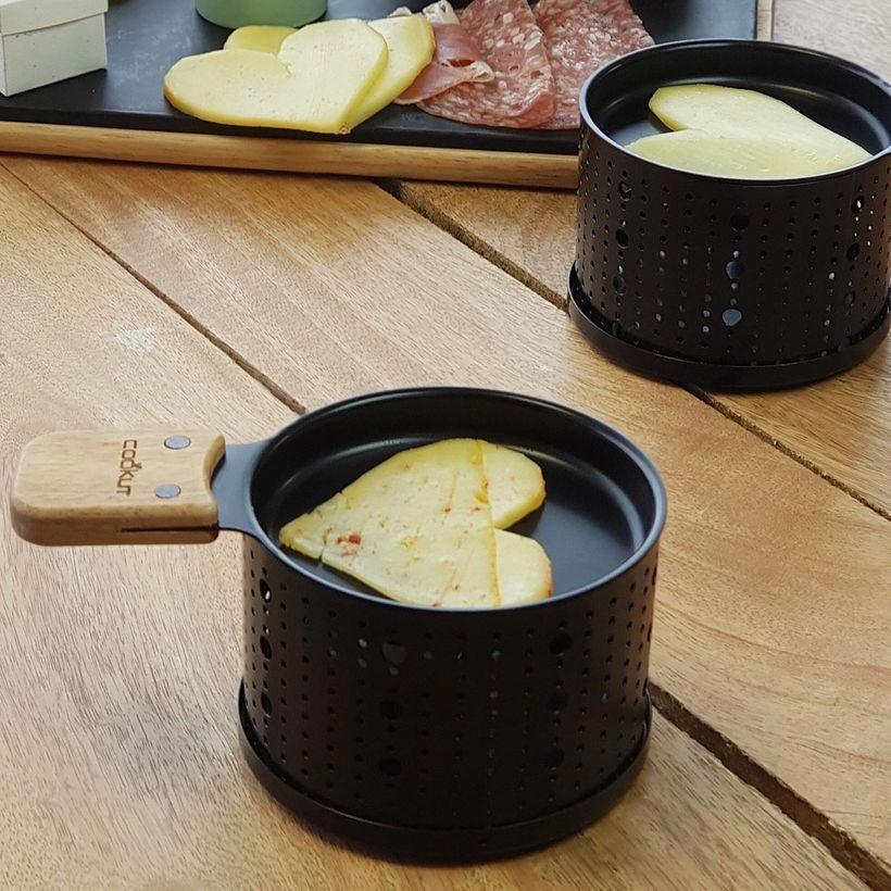 Raclette 4 sets individuels en métal noir