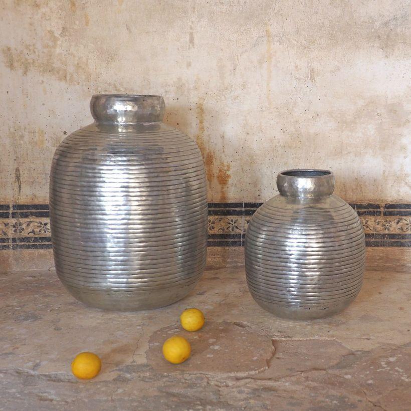 vase bonbonne en aluminium