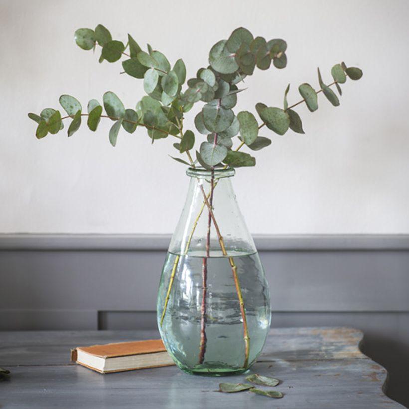 Vase en verre recyclé forme goutte