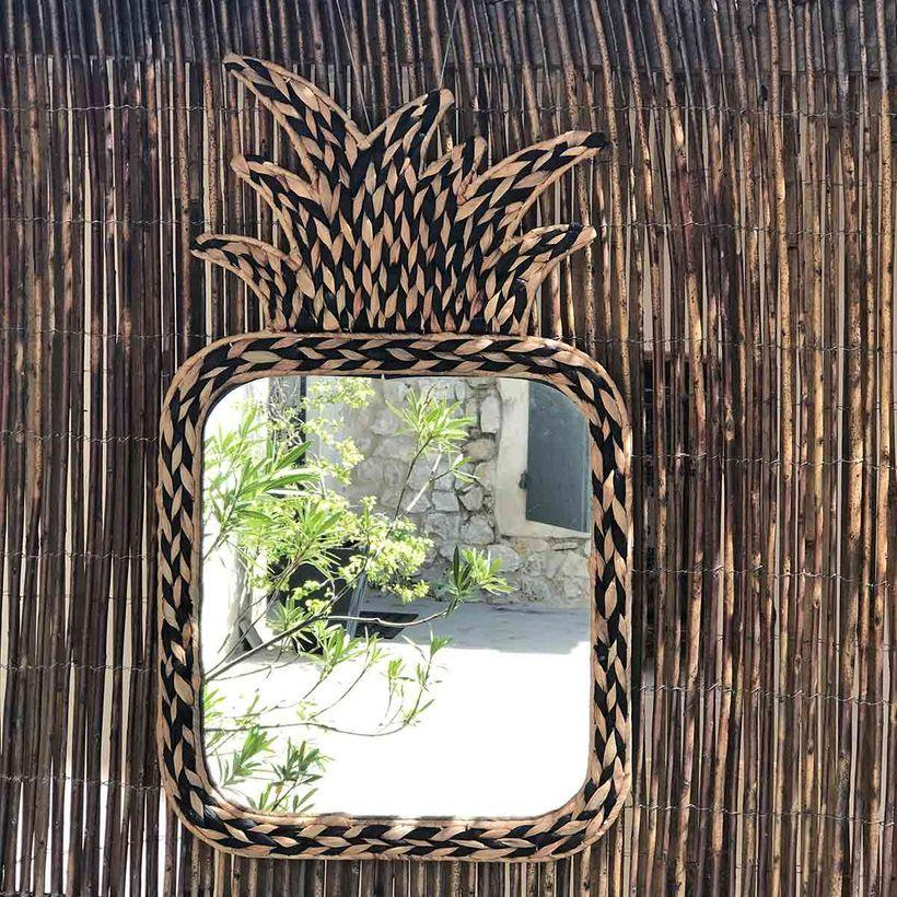 Miroir ananas en jacinthe d'eau