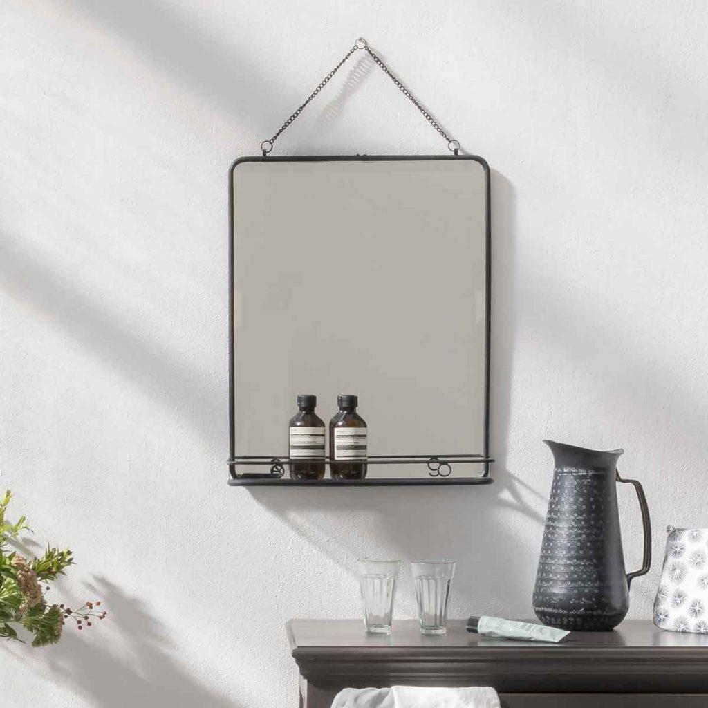 Miroir en métal rectangulaire