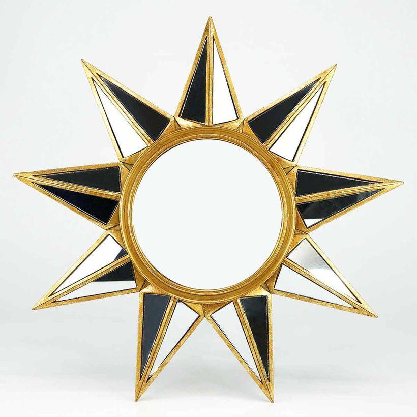 Miroir étoile doré mate