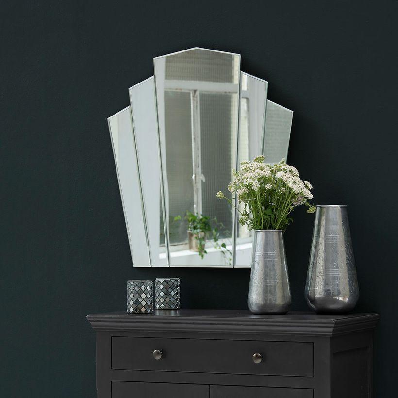 Miroir style Art Déco sans contour