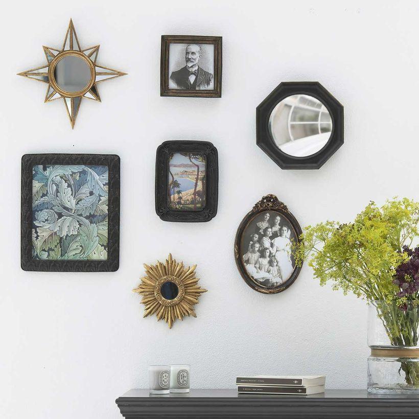 Set de 7 cadres et miroirs style baroque