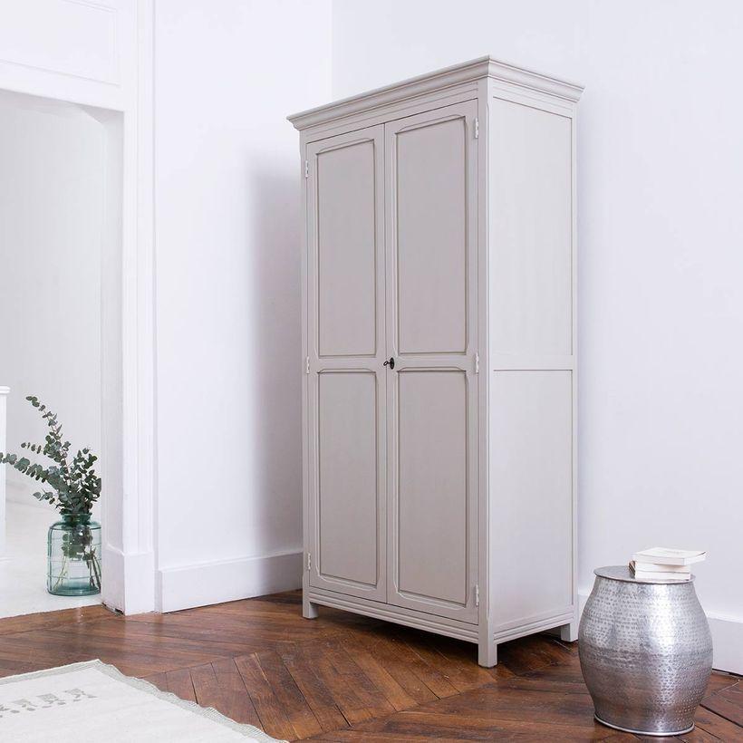 rangement - Armoire parisienne 2 portes penderie étagères