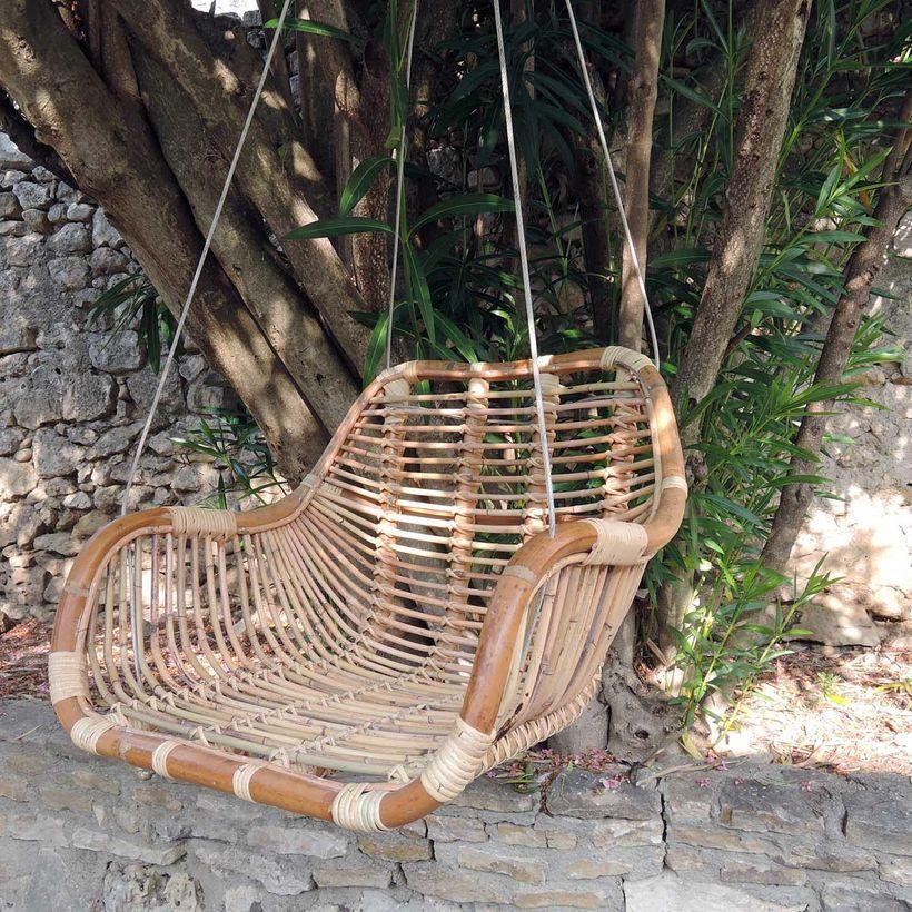 L'été indien - Balancelle fauteuil suspendu en rotin naturel