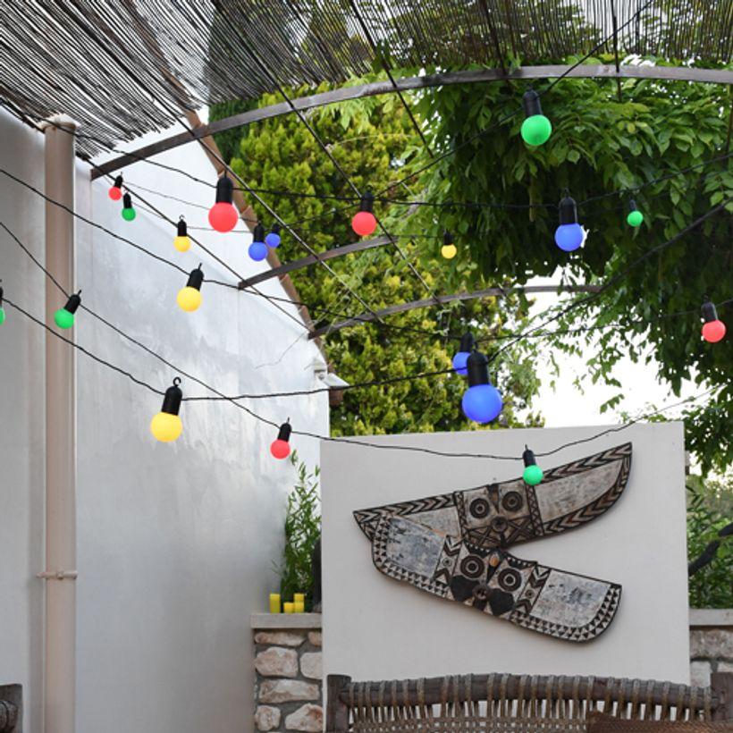 L'été indien - Guirlande lumineuse guinguette multicolore