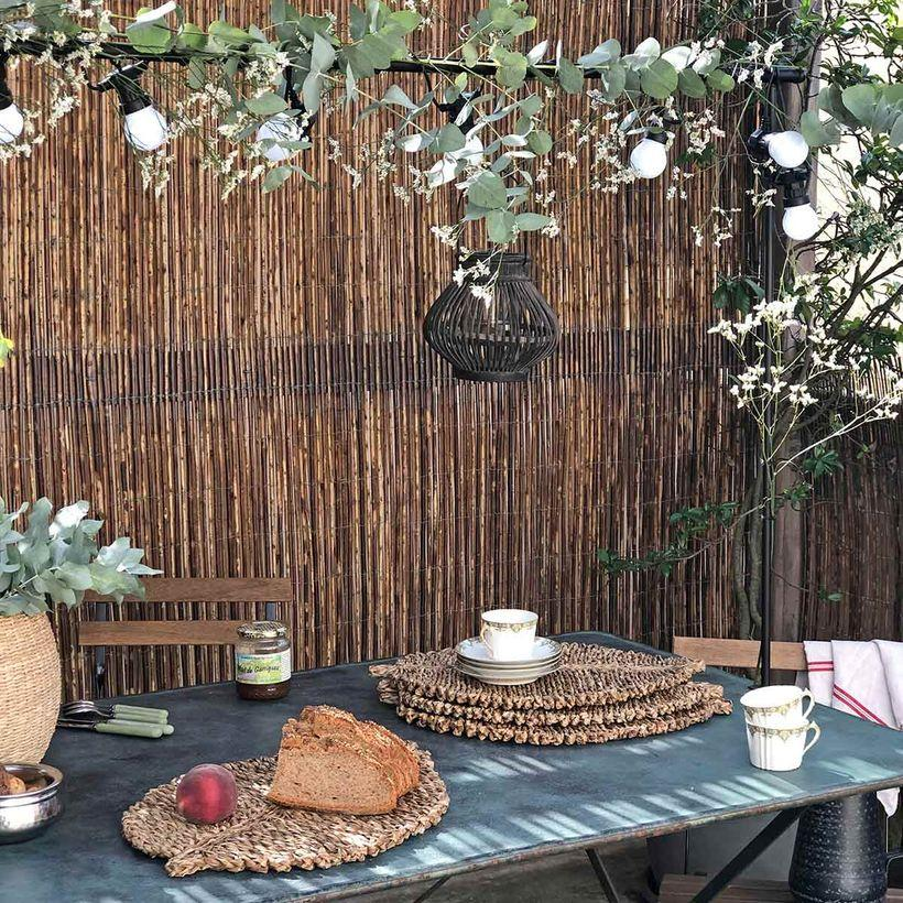 L'été indien - Set de table forme feuille en jonc de mer