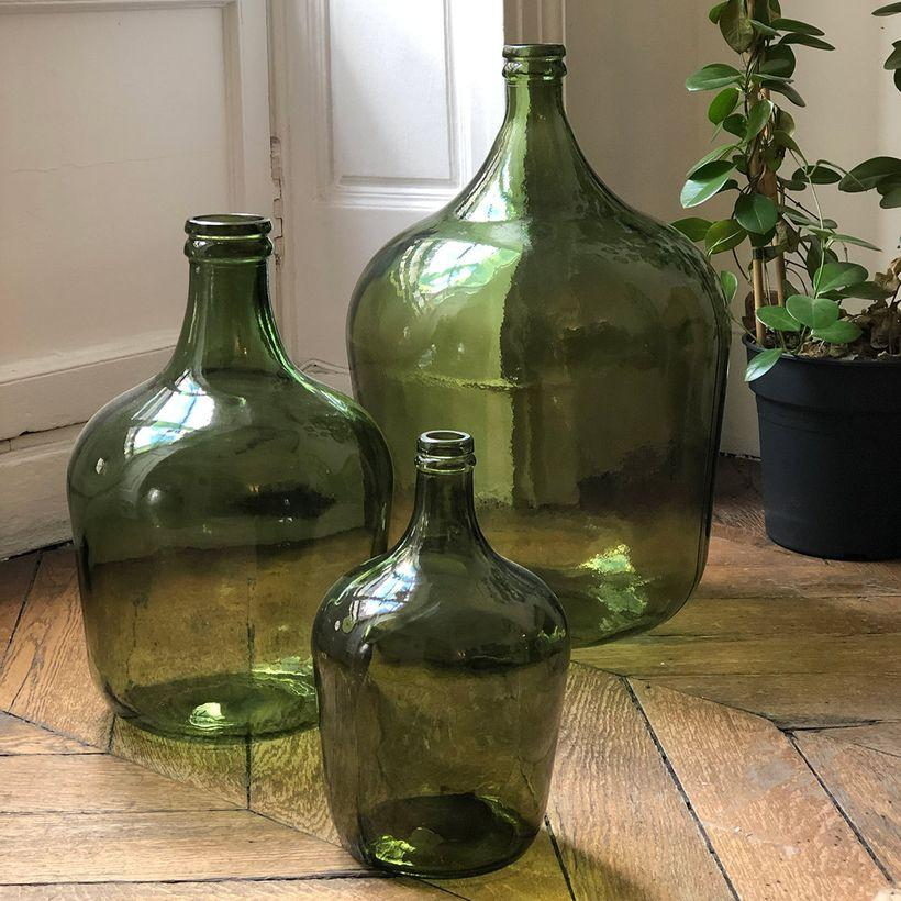 Aux couleurs de l'automne - Bonbonne dame jeanne vert olive