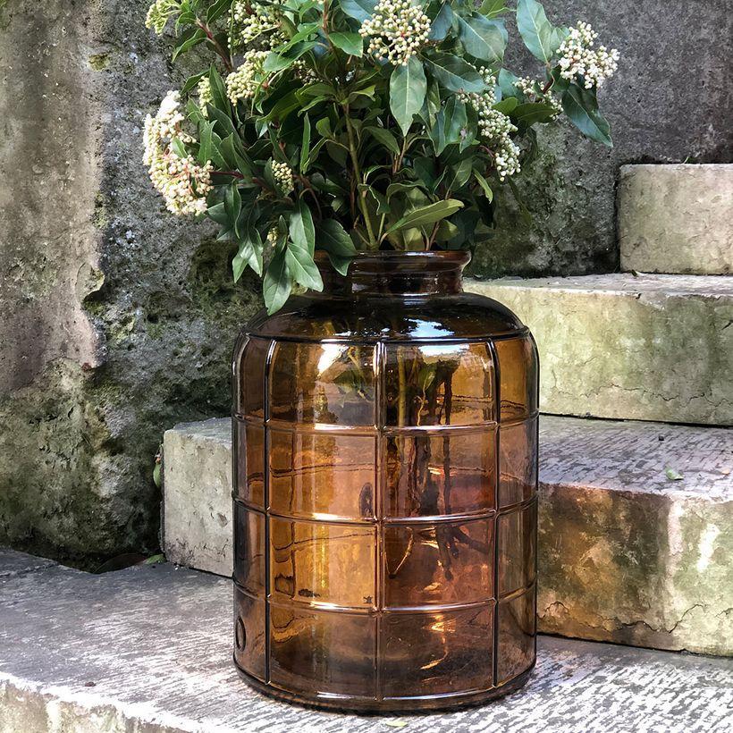 Vase bonbonne style Art Déco ambre