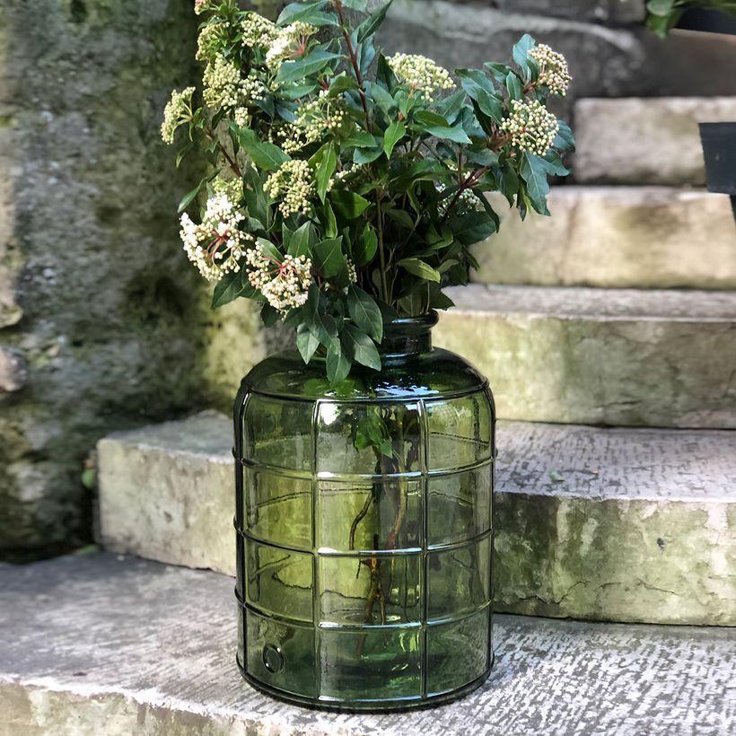 Aux couleurs de l'automne - Vase bonbonne style Art Déco vert olive